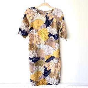 Boden Linen Print Shift Dress size 4